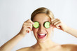 canvas print picture - cucumber - wellness - health