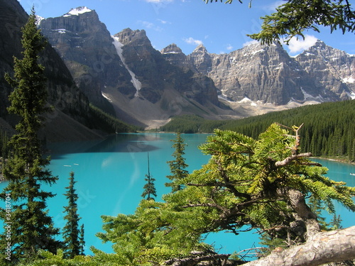 Cadres-photo bureau Canada lac moraine,,canada,,