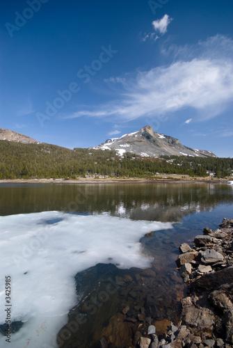alpine landscape in the high sierra
