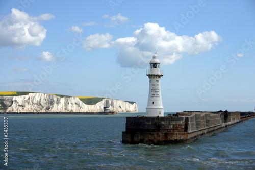 Foto op Aluminium Vuurtoren dover harbour