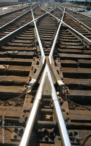 Photo Stands Railroad geometry iron roads