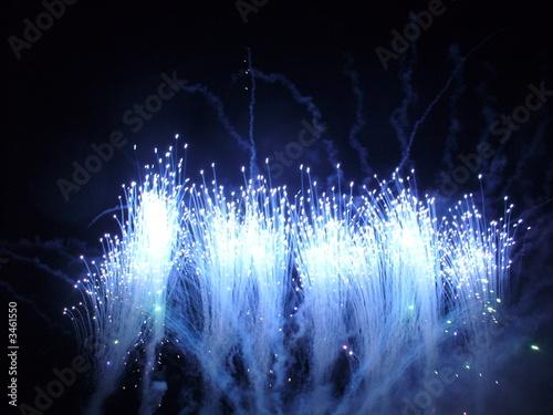 feu d'artifice bleu