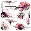 Leinwandbild Motiv floral design elements
