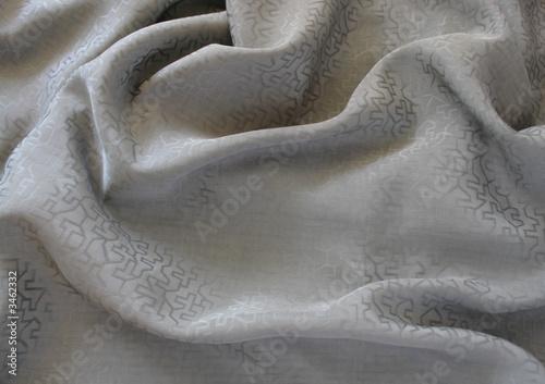 Photo  vintage chinese gray silk fabric