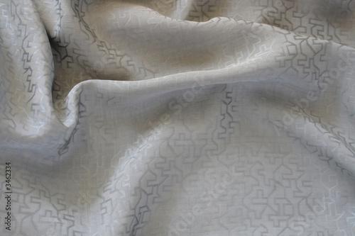 vintage chinese gray silk fabric Canvas Print