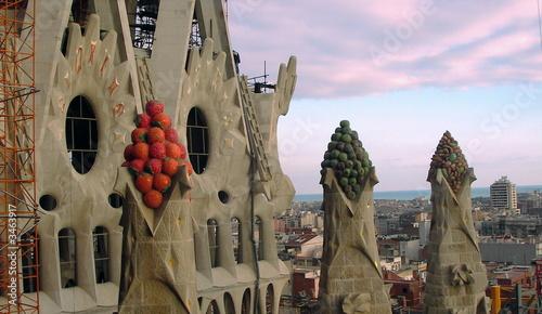 Photo  sagrada skyline