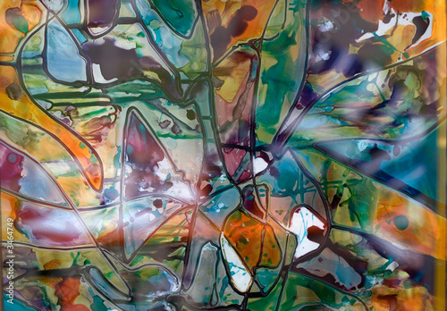 stained glass whit beautiful colors © scata
