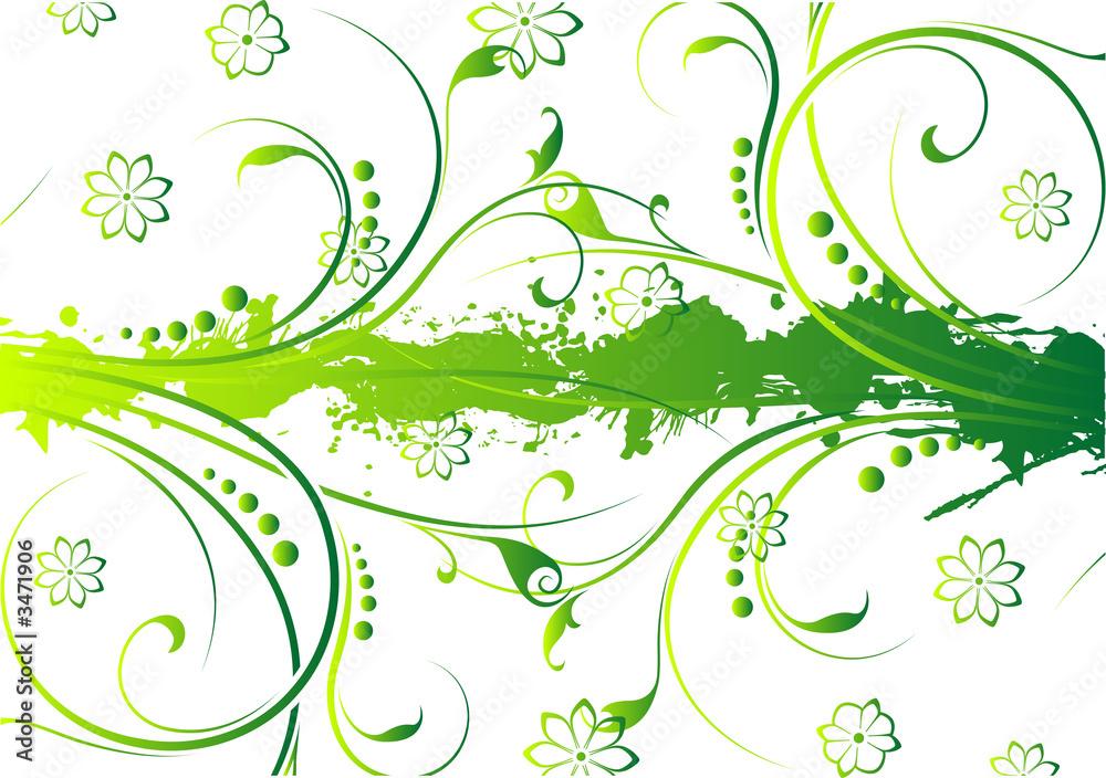 Leinwandbild Motiv - WaD : abstract grunge floral background