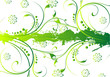 Leinwandbild Motiv abstract grunge floral background