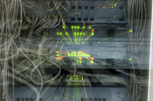 Fotografie, Obraz  network burn and explosion