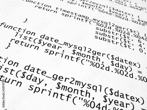 Fotografía  php quell-text programm-code