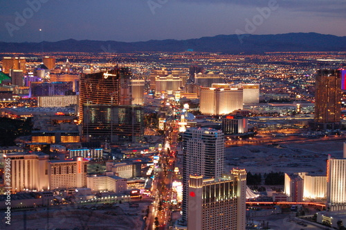 Spoed Foto op Canvas Las Vegas las vegas by night