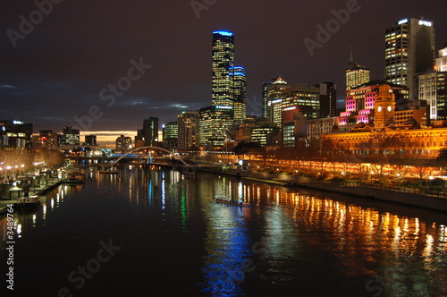 a melbourne city night