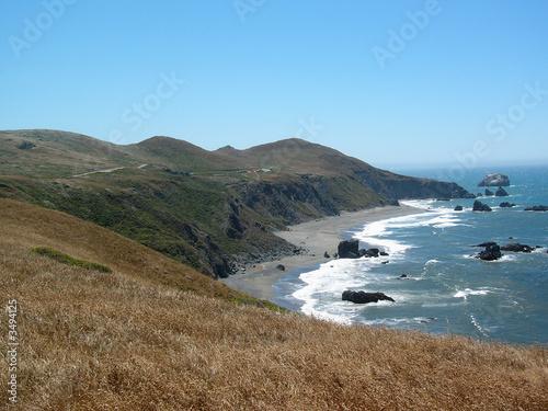 Valokuva  côte californienne en demi-cercle