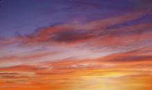 Brilliant Purple Orange Sunset