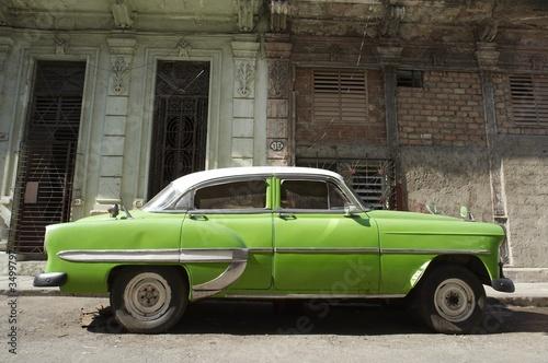 Deurstickers Cubaanse oldtimers american car