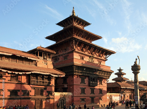 Wall Murals Nepal Patan - ancient city of Nepal