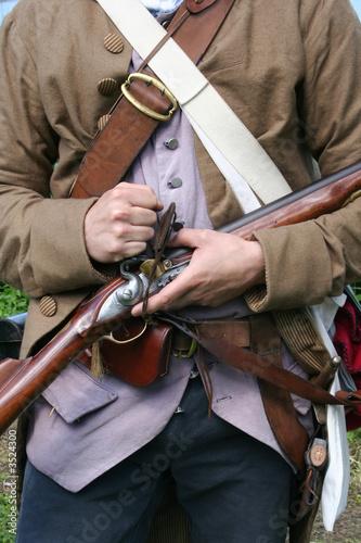 Fotografía  colonial militiaman