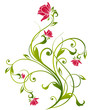 canvas print picture floral background