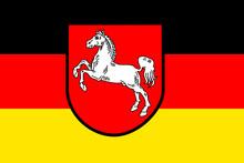 Flagge Bundesland Niedersachsen