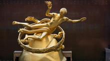 Ice Rink Prometheus Statue, Manhattan, New York