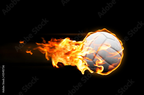 volleyball_fire Canvas Print