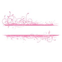 Pink Design Element, Banner Illustration