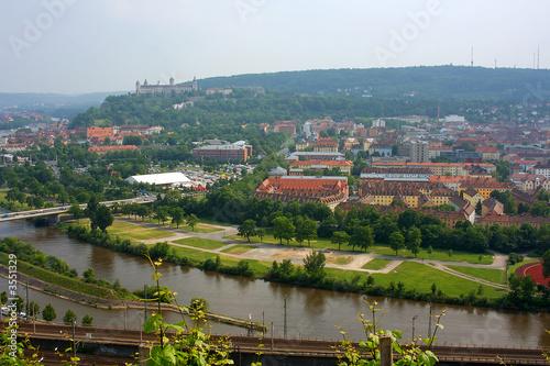 Fototapeta Blick auf Würzburg obraz na płótnie