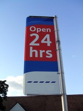 Sign. Open 24 Hrs. Open 24 Hours