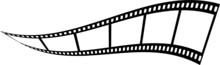 Film Streifen Geschwungen