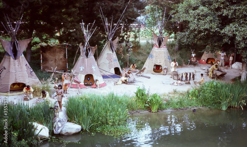 Poster Indiens Indian Tepees