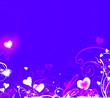 canvas print picture - fond saint valentin bleu