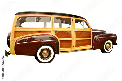 Fotografiet 40's era woody station wagon, popular with collectors