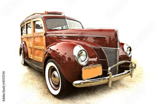 Keuken foto achterwand Vintage cars 40's vintage woody station wagon