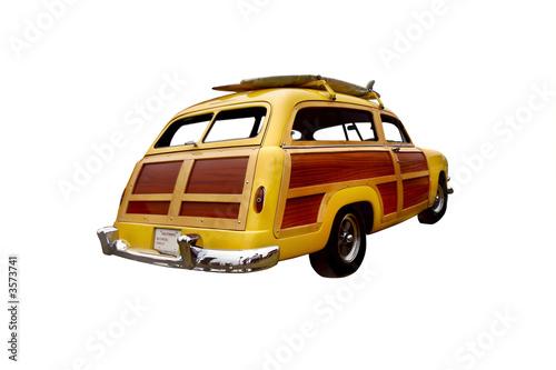 Fototapeta early 50's era woody station wagon,