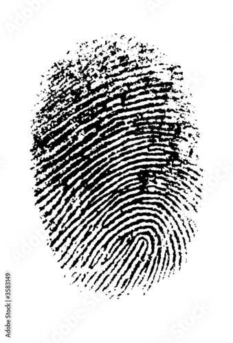 Highly detailed vector fingerprint Canvas Print