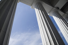Column At The State Capitol Building In Montpelier, Vermont