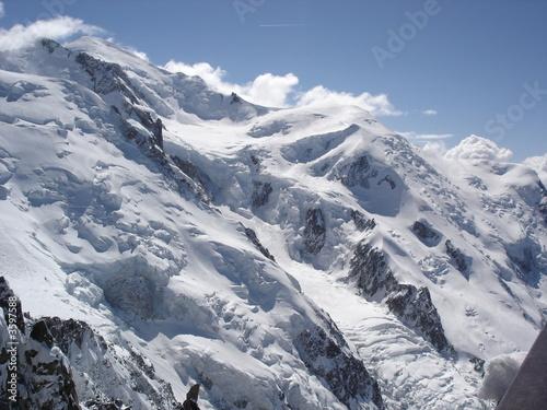 Montage in der Fensternische Alpen MONT BLANC