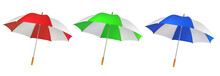 Umbrella From A Rain Or The Sun On A White Background