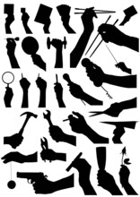 Collection Of Hand Vector 2