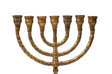A Hanukkah Menorah Isolated On White Background