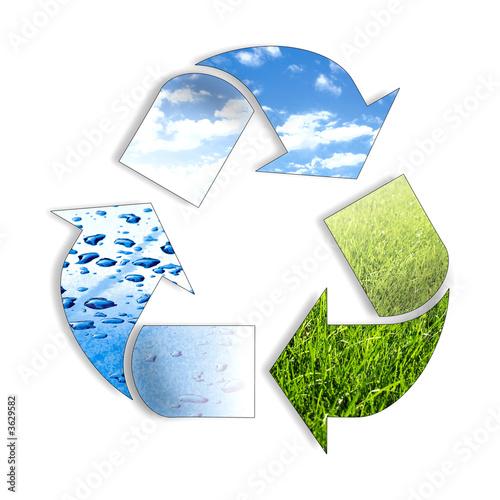 it explain naturel recycle..Three arrows follow eachother. #3629582