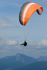 FototapetaParaglider in clouds the Alps sky over Bavaria