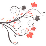 beautiful abstract vector floral design