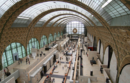 Fotografie, Obraz  Main hall of the d'Orsay Museum in Paris
