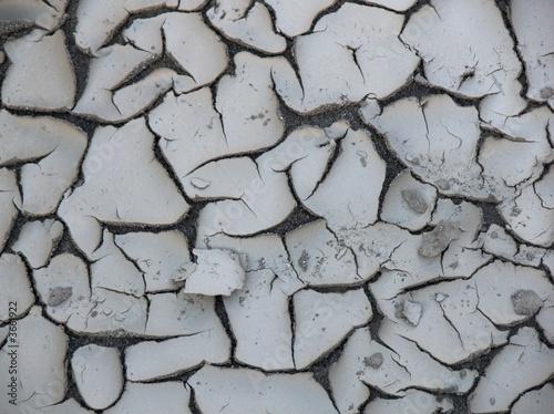 fango crosta siccità Fototapet