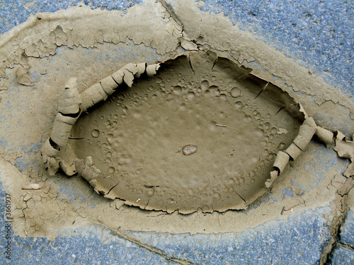 Fényképezés  crosta di fango siccità