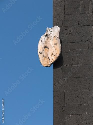 Fényképezés  Randazzo stemma basilica Santa Maria