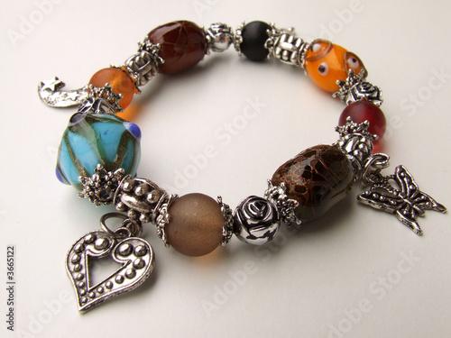 Fotografie, Obraz  bracelet perles de couleurs