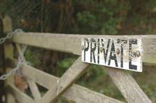 Lock Gate On Private Real Estate
